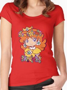 Flower Crown Princess Daisy Women's Fitted Scoop T-Shirt