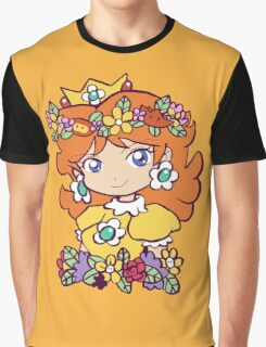 Flower Crown Princess Daisy Graphic T-Shirt