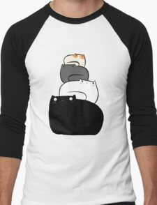 Cat Stack Men's Baseball ¾ T-Shirt