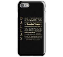 Dallas Famous Landmarks iPhone Case/Skin