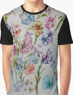 PAW-SCH - BUTTERFLIES AND FLOWERS  Graphic T-Shirt
