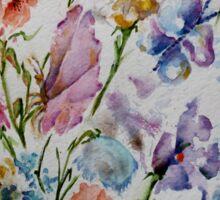 PAW-SCH - BUTTERFLIES AND FLOWERS  Sticker