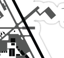 Hill Air Force Base Airfield Diagram (Gray) Sticker