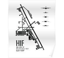Hill Air Force Base Airfield Diagram (Gray) Poster
