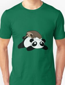 Little Sloth and Panda Unisex T-Shirt