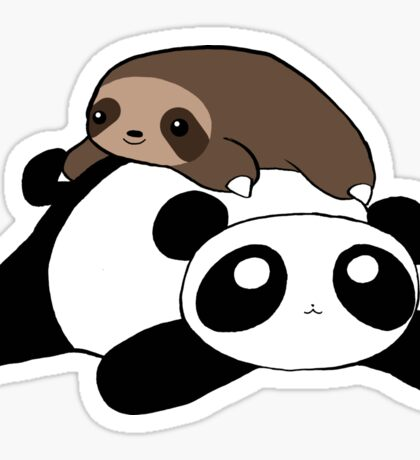 Little Sloth and Panda Sticker