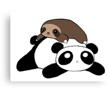 Little Sloth and Panda Canvas Print