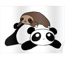 Little Sloth and Panda Poster