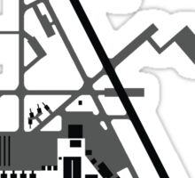 Hill Air Force Base Airfield Diagram (Gray, No Planes) Sticker