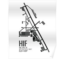 Hill Air Force Base Airfield Diagram (Gray, No Planes) Poster