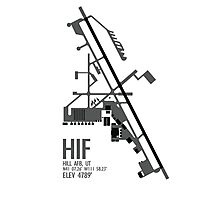Hill Air Force Base Airfield Diagram (Gray, No Planes) Photographic Print