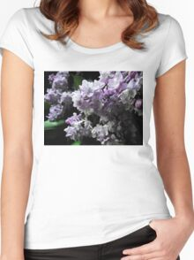 Lilac macro Women's Fitted Scoop T-Shirt
