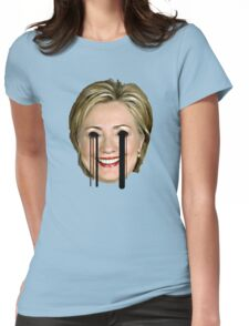 Evil Hilary Clinton 2 Melty Eyes Womens Fitted T-Shirt