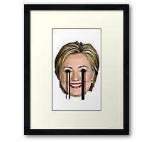 Evil Hilary Clinton 2 Melty Eyes Framed Print