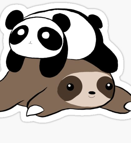 Sloth and Panda Sticker