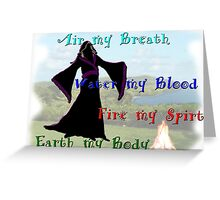 Witch Elements  Greeting Card