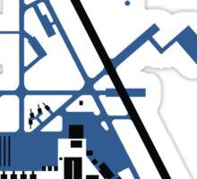 Hill Air Force Base Airfield Diagram (Blue, No Planes) Sticker