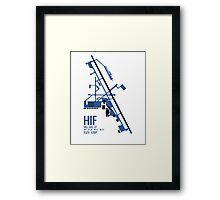 Hill Air Force Base Airfield Diagram (Blue, No Planes) Framed Print