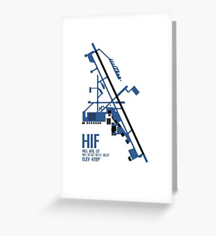 Hill Air Force Base Airfield Diagram (Blue, No Planes) Greeting Card