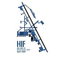 Hill Air Force Base Airfield Diagram (Blue, No Planes) Photographic Print