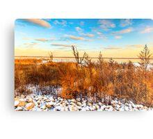 Illinois Sunset At Emiquon National Wildlife Refuge Metal Print