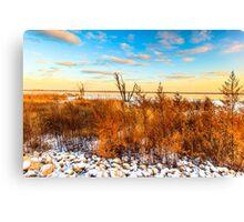 Illinois Sunset At Emiquon National Wildlife Refuge Canvas Print