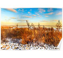 Illinois Sunset At Emiquon National Wildlife Refuge Poster
