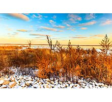 Illinois Sunset At Emiquon National Wildlife Refuge Photographic Print