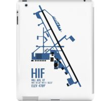 Hill Air Force Base Airfield Diagram (Blue, No Planes) iPad Case/Skin