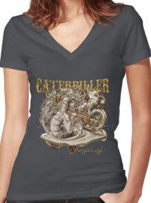 Alice In Wonderland Caterpillar Carnivale Style Women's Fitted V-Neck T-Shirt