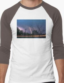 17th Street Thunder and Lightning Men's Baseball ¾ T-Shirt