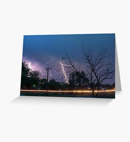 17th Street Thunder and Lightning Greeting Card