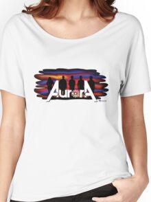 Aurora / Black Facebook Women's Relaxed Fit T-Shirt