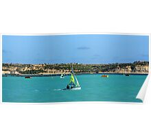Sailing On A Sunny Day Poster