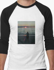 Miami Beach Skyline Men's Baseball ¾ T-Shirt