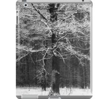 Black and White Forest Structure iPad Case/Skin