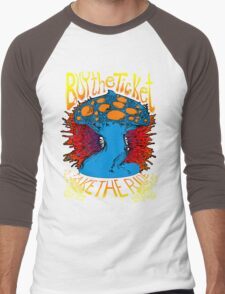 """""""Buy the ticket take the ride"""" Hunter S. Thompson quote original drawing Men's Baseball ¾ T-Shirt"""