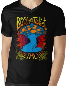 """""""Buy the ticket take the ride"""" Hunter S. Thompson quote original drawing Mens V-Neck T-Shirt"""