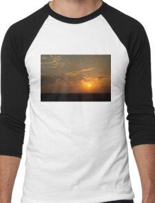 Pineapple Tangerine Sunset Men's Baseball ¾ T-Shirt