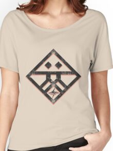 Kiznaiver Corporate Logo - distressed black Women's Relaxed Fit T-Shirt