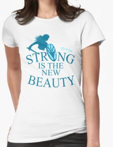 strong is th new beauty - shieldmaiden Womens Fitted T-Shirt