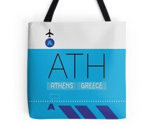 Athens ATH Airport Luggage Tag themed graphic Tote Bag