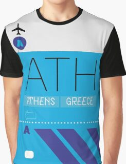 Athens ATH Airport Luggage Tag themed graphic Graphic T-Shirt