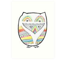 Totemic Love Owl Art Print