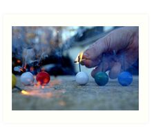 Smoke Bombs Photograph Art Print