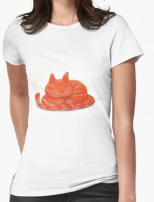 Cozy cat Womens Fitted T-Shirt