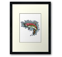 Procreate Rainbow Trout Framed Print