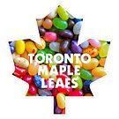 Toronto Maple Leafs Logo with Jelly Bellies by James Hetfield