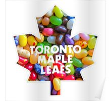 Toronto Maple Leafs Logo with Jelly Bellies Poster