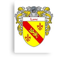 Lane Coat of Arms/Family Crest Canvas Print